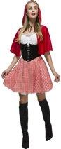 Roodkapje jurkje / kostuum voor dames 40-42 (M)