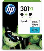 HP 301XL - Inktcartridges / Zwart / Hoge Capaciteit / Dual-Pack