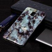 Let op type!! Marmer patroon Soft TPU Case voor Galaxy J8 (2018) (grijs)