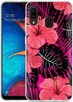 Galaxy A20 Hoesje Tropical Flowers