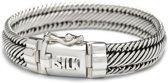 SILK Jewellery - Zilveren Armband - Weave - 733.21 - Maat 21