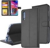 Pasjeshouder Zwart Book Case voor Samsung Galaxy A70 -Magneetsluiting - Kunstleer