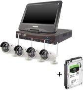 Draadloos Beveiligingscamera set met 4 Cameras Outdoor Buiten 960p IP Wireless