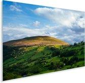 Een vallei in het Europese Nationaal park Brecon Beacons tijdens de middag Plexiglas 90x60 cm - Foto print op Glas (Plexiglas wanddecoratie)