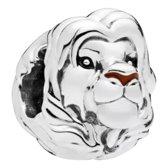 Zilveren bedel Disney | Bedel Lion King Simba Volwassen Zilver | Bedels Charms Beads | 925 sterling silver | net zo waardevol als pandora maar dan goedkoop | direct snel leverbaar | Tracelet |