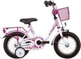 Vermont Girly - Kinderfiets - 12 Inch - Meisjes - Wit/Roze