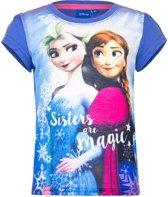 Frozen t-shirt paars voor meisjes 128