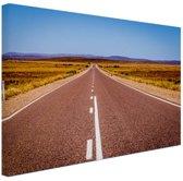 Weg Australie  Canvas 80x60 cm - Foto print op Canvas schilderij (Wanddecoratie)