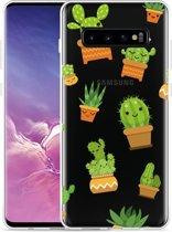 Galaxy S10 Plus Hoesje Happy Cactus
