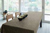 Luxe Stof Geweven Gecoat Tafellaken - Tafelzeil - Tafelkleed – Duurzaam - 180cm x 180cm - Matrix Beige