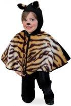 Peuter verkleed poncho tijger pak 98