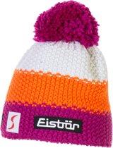 Eisbär Star Neon Pompon Muts Junior Muts (Sport) - Unisex - roze/ wit/ oranje