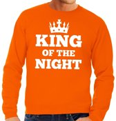 Oranje King of the night sweater heren S