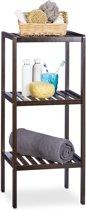 relaxdays - badkamerrek bamboe - staand rek - keukenrek - bamboerek - rekje