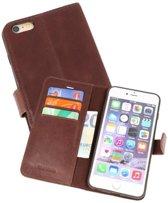 Rico Vitello Mocca Echt Leder Hoesje iPhone 6 Plus / 6s Plus