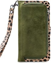 Mobilize 2in1 Gelly Wallet Zipper Case Samsung Galaxy A40 Olive/Leopard