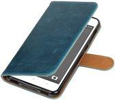 HTC Desire 825 Blauw   Premium TPU PU Leder bookstyle / book case/ wallet case    WN™