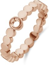 Melano Twisted Wave ring - rosekleurig - dames - maat 56