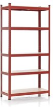 Clp Metalen stellingrek - rood 220 x 90 x 40 cm