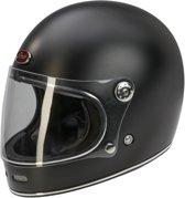 Barock Retro B510 Integraalhelm - Mat zwart - Scooterhelm - Motorhelm - XS