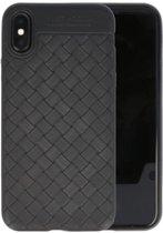 Zwart Geweven TPU case hoesje voor Apple iPhone X