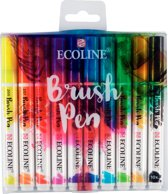 Ecoline Brush Pen set 10 kleuren brushpen penseelpen penseelstift