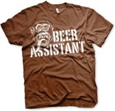 GAS MONKEY - T-Shirt Beer Assistant - Brown (S)