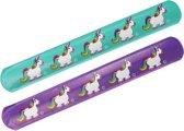 LG-Imports Klaparmband eenhoorn paars 22 cm