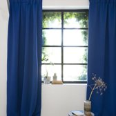 Gordijnen | Blauw | Verduisterend & Geluidswerend | Haken | 100% Polyester | 150 x 250 cm