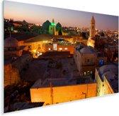 Stadsgezicht van Jeruzalem vlak na zonsondergang in Israël Plexiglas 90x60 cm - Foto print op Glas (Plexiglas wanddecoratie)