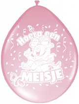 Geboorte Ballonnen Meisje 30cm 8 stuks