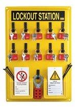 Lockout-Station, type 1, 10 sleutels, 10 onderhoud-hangetiketten, 360