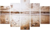 Art for the Home - Canvas Schilderij set - Zon - Goud - 150x100 cm