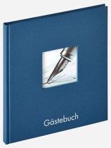 Walther Fun Gästebuch blau 23x25 72 witte Paginas GB205L