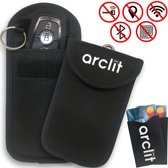 Arclit 2 X Autosleutel RFID anti-diefstal beschermhoes + 2 X RFID anti-diefstal kaarthouders
