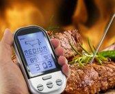 Digitale Keukenthermometer - RVS/Kunststof - Vlees/Vis Thermometer - Draadloos  - Grijs/Zilver