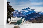 Fotobehang vinyl - Bergen in het Nationaal park Mount Aspiring op South-Island breedte 390 cm x hoogte 260 cm - Foto print op behang (in 7 formaten beschikbaar)