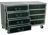 Tronios Pd-fa4 Flightcase Roadie 8 Ladenkast