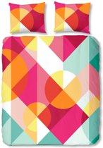 Good Morning Gekleurd Patroon - dekbedovertrek - tweepersoons - 200x200/220 - Multi