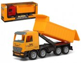 Vrachtwagen met container geel 40 x 16 cm