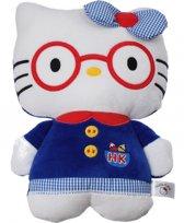 Hello Kitty Pluchen Knuffel 25 Cm Blauw