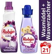 Robijn Color Purple Sensation wasmiddel en wasverzachter - 5 stuks