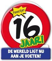 Paperdreams - Wenskaart - Verkeersbord - 16 Jaar
