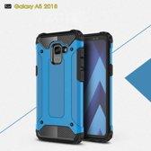 Samsung Galaxy A8 (2018) Armor Hybrid Case - Lichtblauw