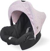 Jollein Confetti knit Zonnekapje 0 tot 9 maanden stoel vintage pink