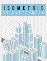 Isometric Graph Paper Notebook - 3D Sketchbook - Skyline Design