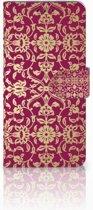 Samsung Galaxy A8 Plus (2018) Boekhoesje Design Barok Pink
