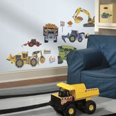 RoomMates Muursticker Construction Vehicles - Multi