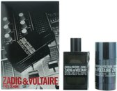 Zadig & Voltaire This is Him! Giftset - EDT 50 ml + Deostick 75 gr