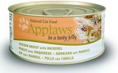 Applaws cat blik adult chicken / mackerel kattenvoer 70 gr